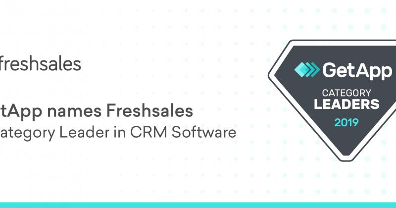 GetApp nimennyt Freshsalesin CRM-järjestelmien kärkeen 2019