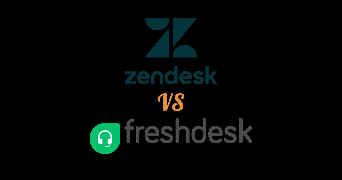 Zendesk logo vs. Freshdesk logo.